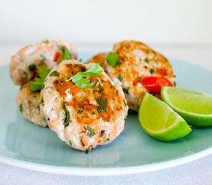 Chili-Coriander Salmon Cakes